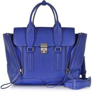 3.1 Philip Lim Pashli Medium Satchel Cobalt Blue